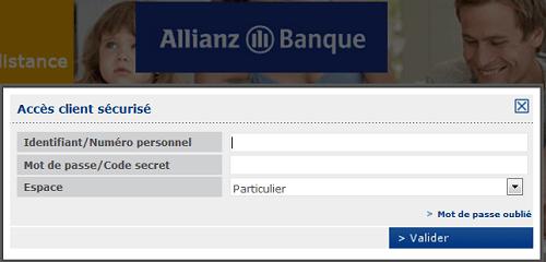connexion espace client Allianz Banque