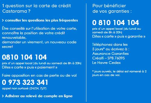 contact carte Castorama