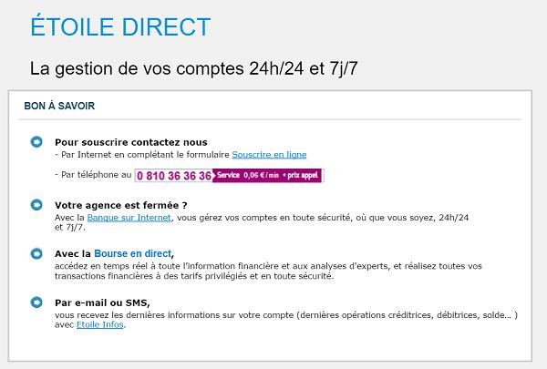 Contact Crédit du Nord Etoile Direct