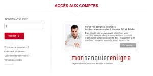 connexion espace client mon banquier en ligne