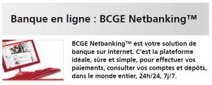 BCGE Netbanking online