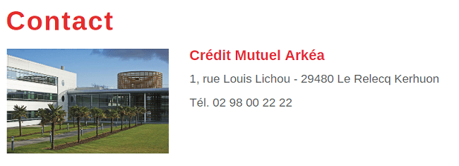 Contact Crédit Mutuel Arkéa