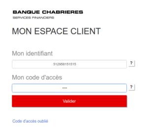connexion à mon compte banque Chabrières Intermarché