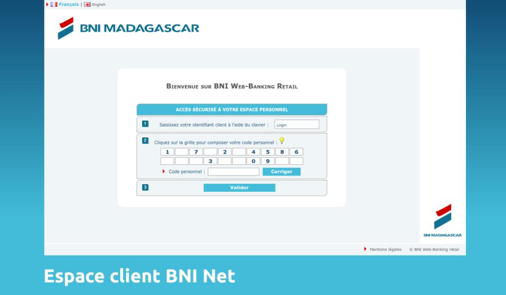 accès bni net mon compte BNI Madagascar