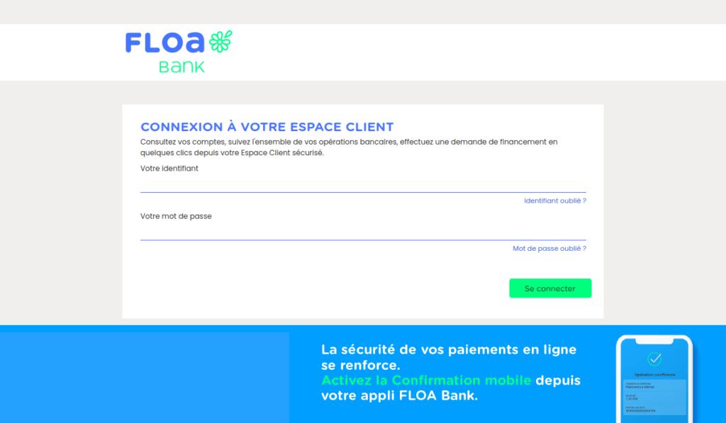 espace client Floa Bank