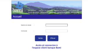 connexion espace client banque Bami