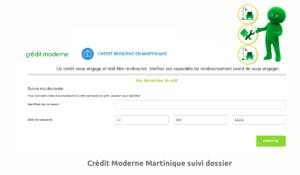 Crédit Moderne Martinique suivi dossier