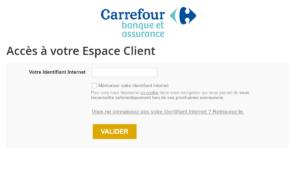 espace client carrefour banque