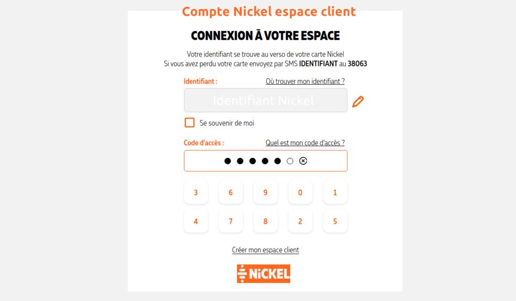 espace client compte nickel