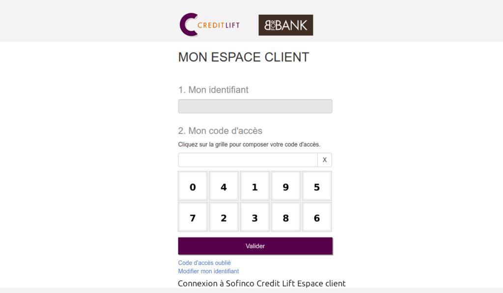 sofinco credit lift espace client