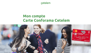 Carte Conforama Cetelem mon compte
